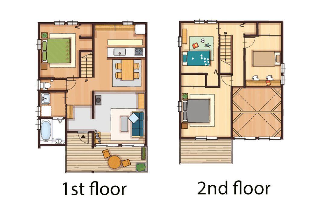 2階建のboootsの間取り図