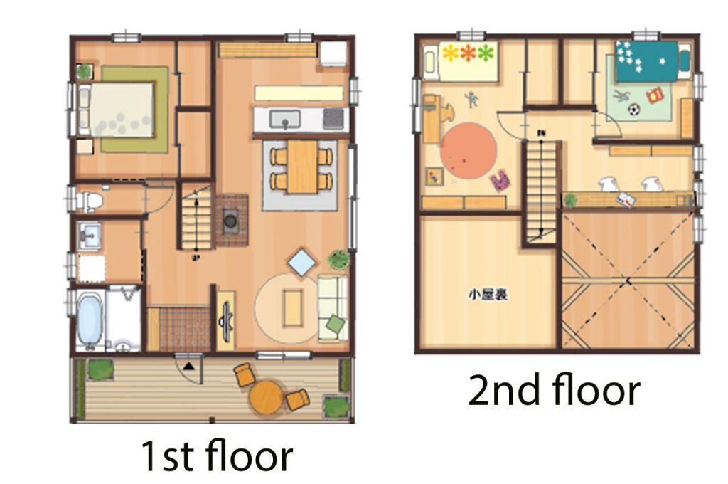 2階建のloafeaの間取り図